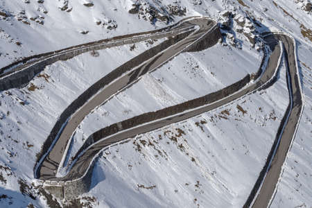 Part of the Stelvio pass road, South Tyrol, Italy