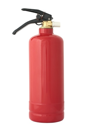 gas fire: Fire extinguisher isolated on white