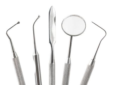 Dental tools isolated on white Stock Photo