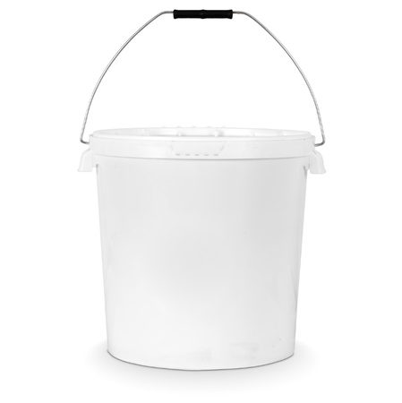 white plastic bucket isolated on white Stock Photo - 9835585