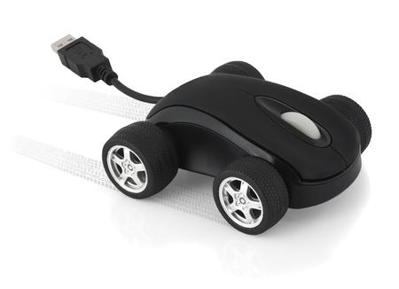 Computer concetto del mouse, mouse velocit� Archivio Fotografico
