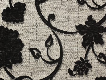 old macro: Vintage fabric with a pattern as background