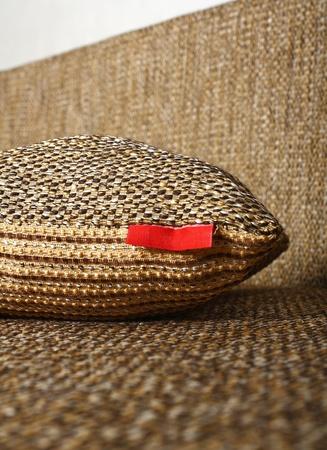 close up of Decorative pillow  Stock Photo