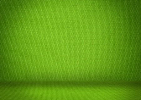 Green lege kamer met licht Stockfoto