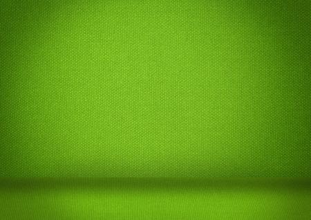 Verde stanza vuota con la luce Archivio Fotografico