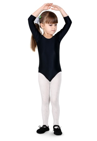gymnast child girl isolated on white  Stock Photo - 11791578