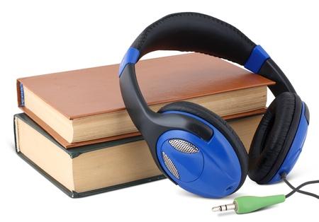 audible: Audio book concept on white Stock Photo