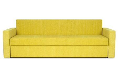 yellow modern sofa isolated on white