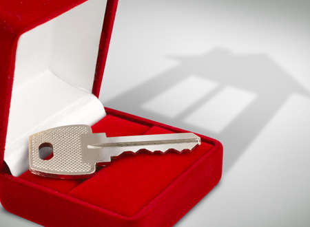 Key in box, house concept Stock Photo - 12663427