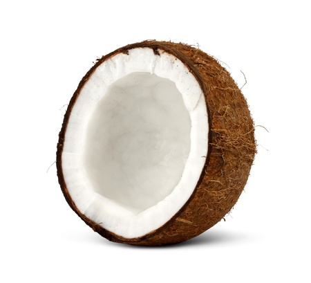 half of coconut isolated on white background Stock Photo - 17156739