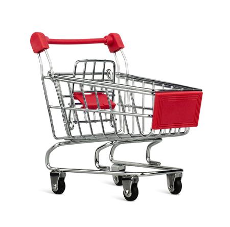 empty shopping cart: Empty shopping cart isolated on white