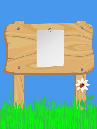 wooden signboard  Illustration