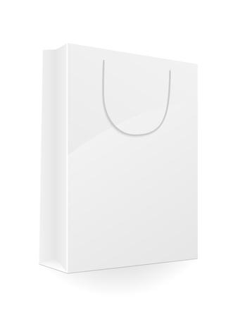 Blank shopping bag isolated on white background