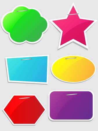 Colorful paper bubble for speech Illustration