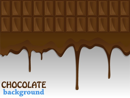 Flowing chocolate drops Vector