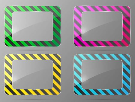 Glass framework set. Vector illustration.  Vector
