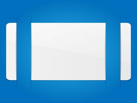 White white paper in a cutting background. Vector illustration.