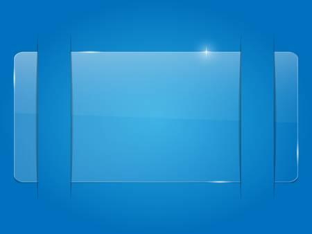 Glass background in a cutting paper. Vector illustration.