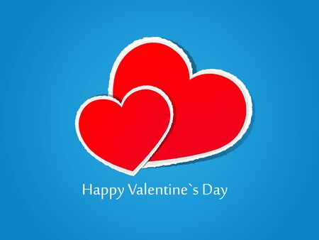 Valentine day card. Vector illustration.