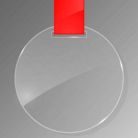 Glass frameworkwith red ribbon. Vector illustration. Vector