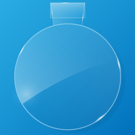 Glass framework on blue background. Vector illustration.