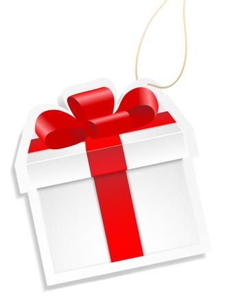 White gift box. Vector.
