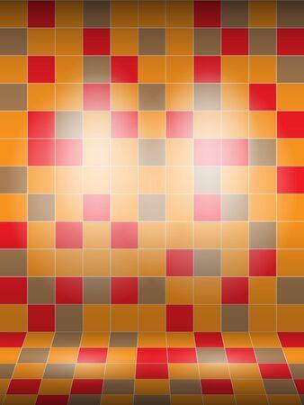 bad fliesen: Interior Marmor geflieste Wand mit Licht, Abbildung.