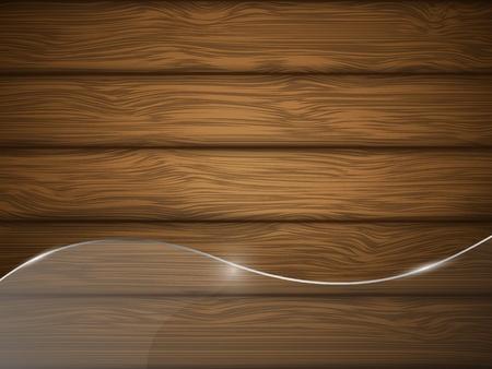 Texture en bois avec une illustration de verre