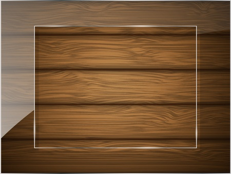 Wooden texture with glass illustration Stock Vector - 13237494