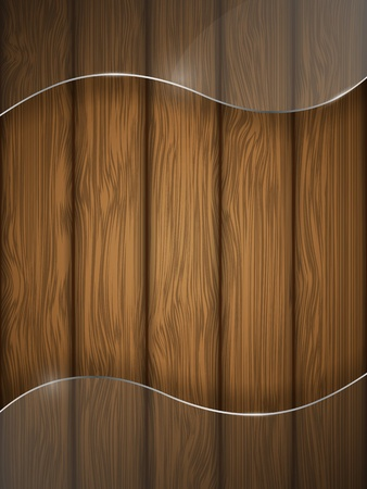 Wooden texture with glass illustration  Vector