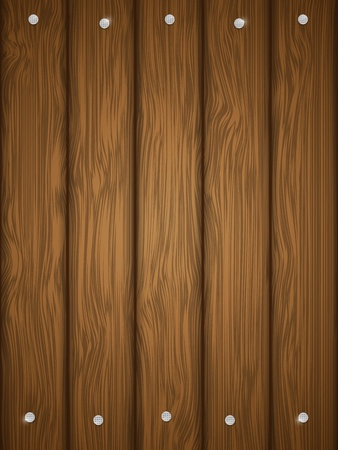 Wooden texture with nails illustration