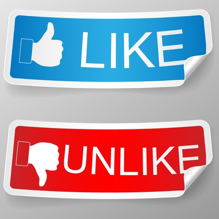 Like and unlike label Stock Vector - 14747038