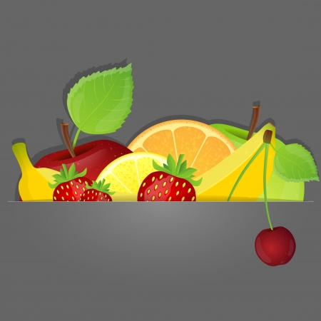 Set of fruits Stock Vector - 16016044