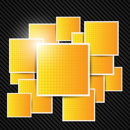 square shape: Abstract orange background