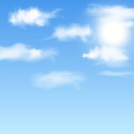 Blue sky with clouds  Vector illustration Stock Vector - 16135332