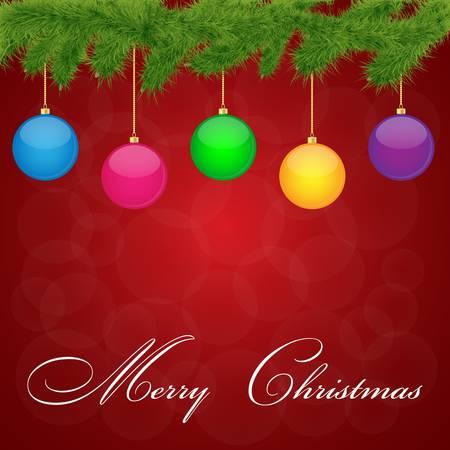 Christmas Greeting Card Vector illustration Stock Vector - 16135334
