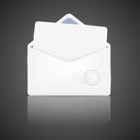 Open envelope with white paper Stock Vector - 17119750