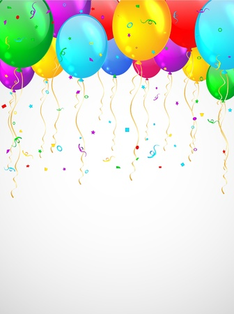 Background with multicolored balloons   Stock Vector - 17208044