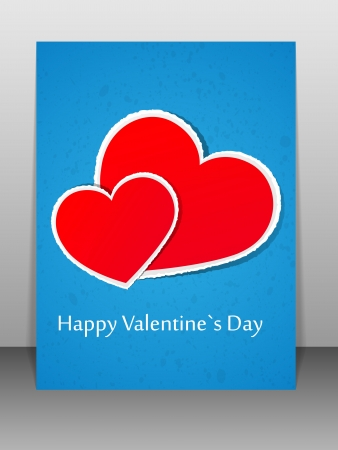 Valentine s Day card  illustration Stock Vector - 17208046