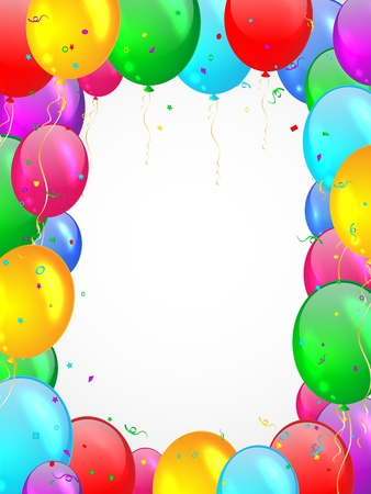 Background with multicolored balloons  Stock Vector - 17208045