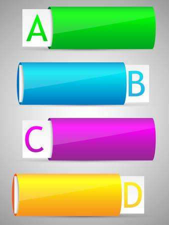 Set of colorful options banner template Stock Vector - 17610413