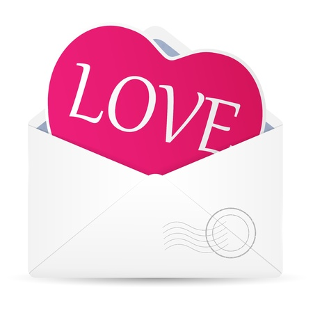Open envelope with hearts  Vector illustration  Vector
