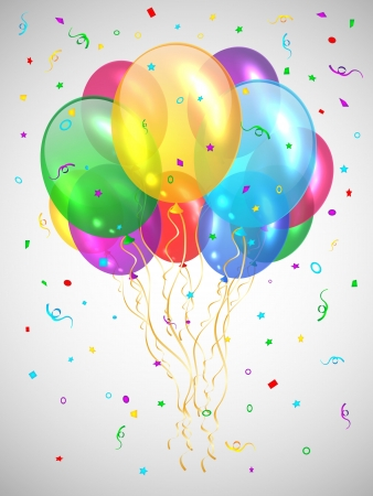 Background with multicolored balloons Stock Vector - 17610423
