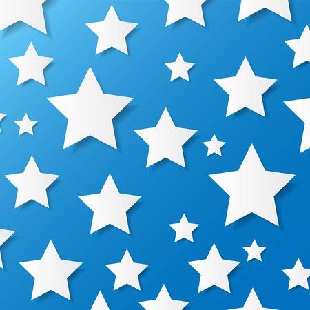 Paper stars  Vector illustration Stock Vector - 18540641