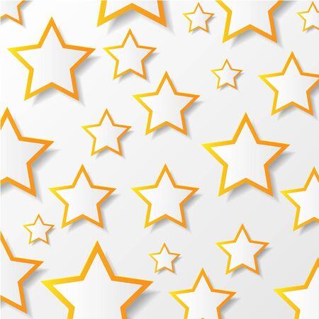 Paper stars  illustration