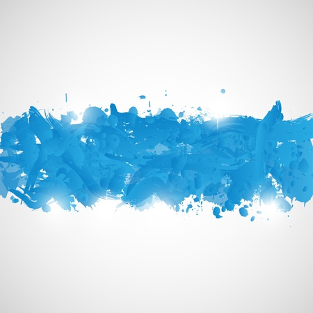 Abstract background with blue paint splashes  Illustration