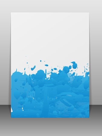 Greeting card with paint splashes