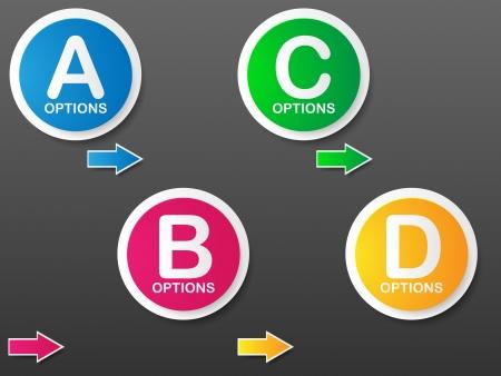 Options Banner template  illustration Stock Vector - 20401970