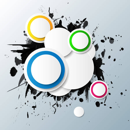Abstract colorful background with circles. Vector