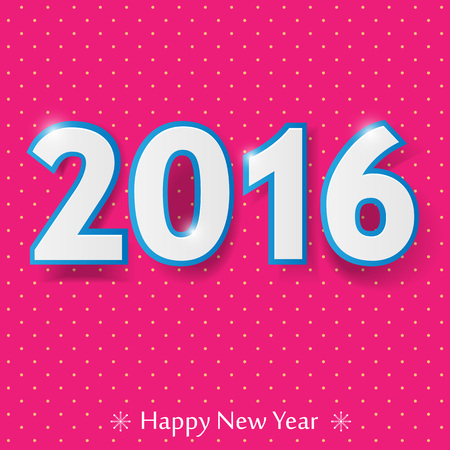 happy new year 2016 design.  Vector illustration. Illustration